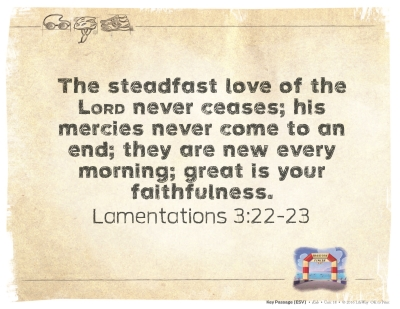 2017 March(Lamentations 3:22-23)