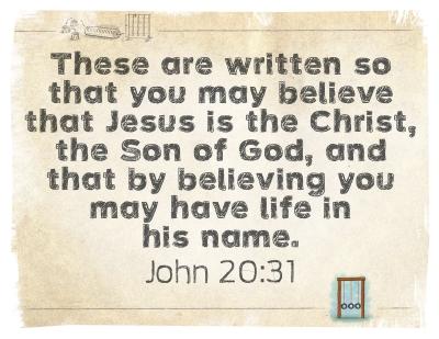 2017 September (John 20:31)