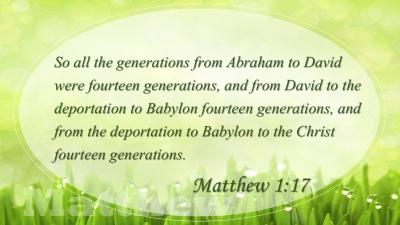 July 2019 (Matthew 1:17)