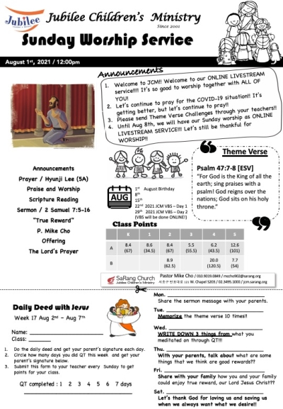 August 1st, 2021 JCM Bulletin